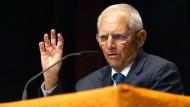 Wolfgang Schäuble (CDU), Bundestagspräsident, spricht am 9.9. auf einer Wahlkampfveranstaltung der CDU.