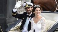 Hochadelige Hochzeit: Carl Philip von Schweden und seine Sofia überstrahlten als Bräutigam und Braut in diesem Jahr alle.