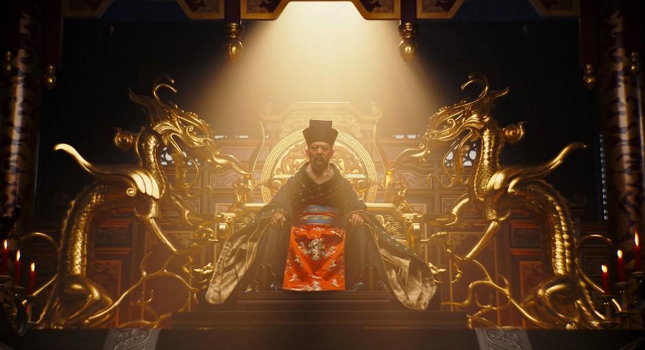 """Opulente Ausstattung: Jet Li als Kaiser in """"Mulan"""""""