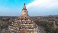 Der Tempel von Bagan wurde bei dem Erdbeben der Stärke 7,0 beschädigt (Archivbild) .