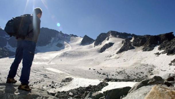 Gletscher durch Hitze schwer geschädigt