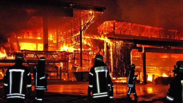 Zehn Millionen Euro Schaden bei Brand in Sägewerk