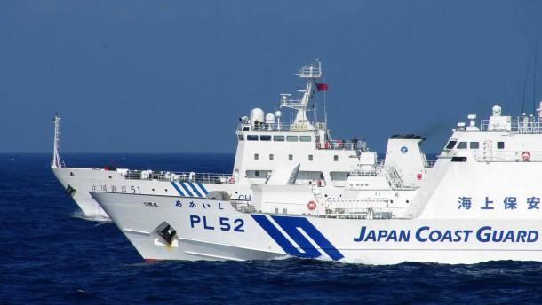 Chinesische Schiffe dringen in japanische Hoheitsgewässer ein