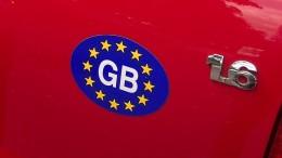 """""""UK"""" statt """"GB"""" auf britischen Autos"""