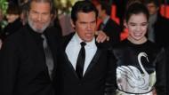 Auch Hollywood war dabei: Die Schauspieler Jeff Bridges, Josh Brolin und Hailee Steinfeld kamen zur Berlinale
