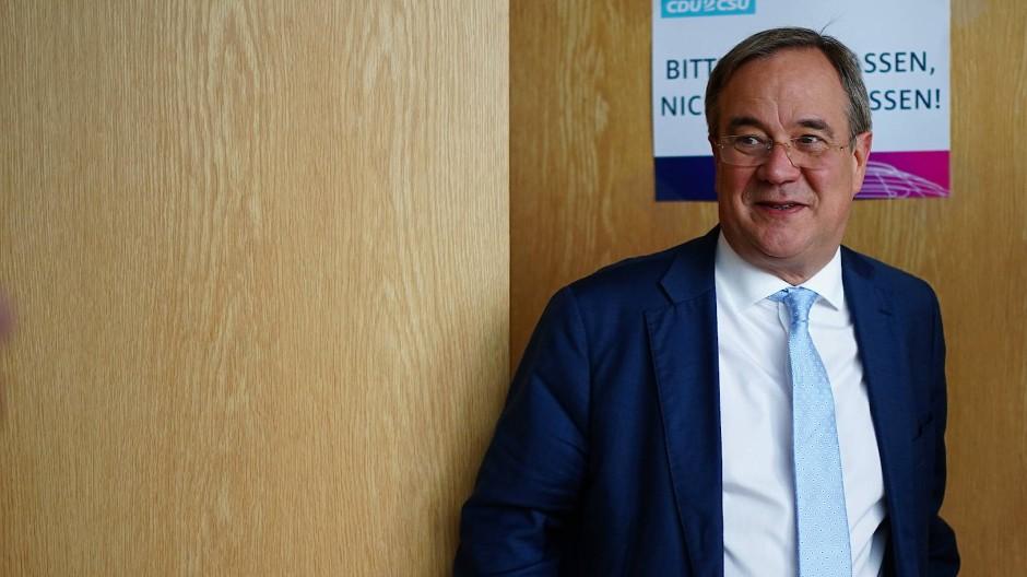 Armin Laschet am Dienstag nach dem Treffen der CDU-Landesgruppe in Düsseldorf