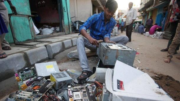 Der Düsentrieb des indischen E-Schrotts