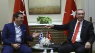 Erdogan trifft in Athen Tsipras (Archivaufnahme vom September 2016, aufgenommen bei den UN in New York).