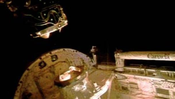Discovery auf dem Rückweg zur Erde