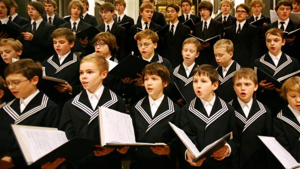 Thomanerchor probt in der Leipziger Thomaskirche