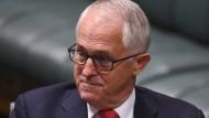 Der australische Premierminister Malcolm Turnbull am Montag im Parlament