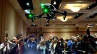 """Drohne """"Inspire 1"""" auf der """"Unveiled-Veranstaltung"""" der CES."""