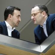 Paul Ziemiak (links) und Jens Spahn gelten als Nachwuchshoffnungen in der CDU (Aufnahme vom Oktober 2017 in der CDU-Parteizentrale).