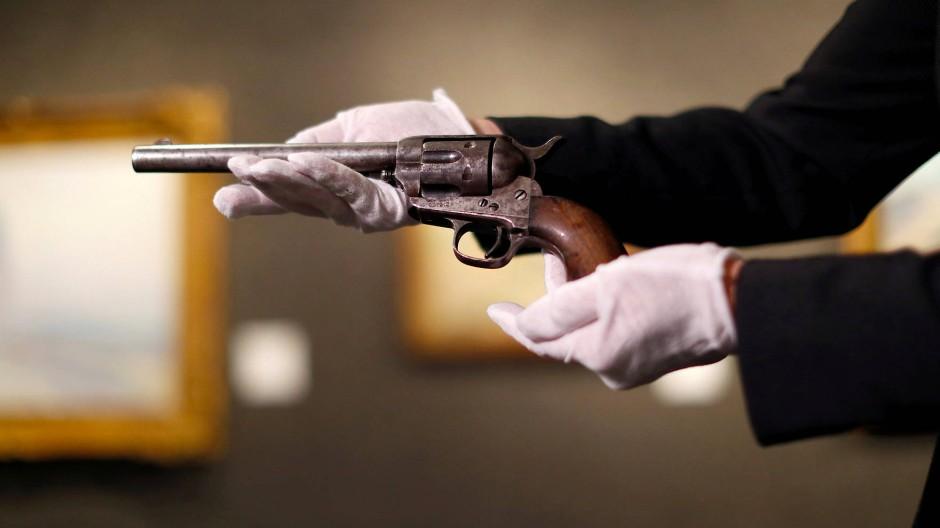 Guter Zustand, abgenutzter Griff: Der Revolver, mit dem Billy the Kid erschossen wurde