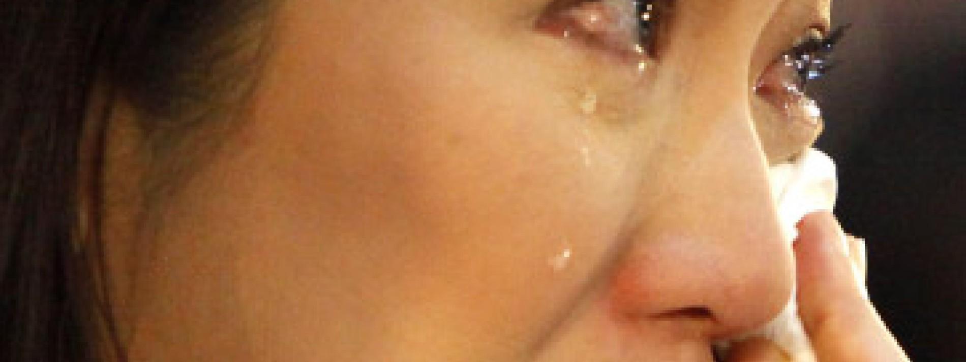 Frau weint ein mann wegen einer wenn Wenn ein