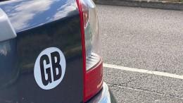 UK-Aufkleber für britische Autos