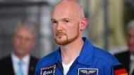 Alexander Gerst am Mittwoch in Köln. Er wird als erster Deutscher Kommandant der Internationalen Raumstation ISS.