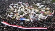 In Kairo gehen die Proteste gegen den ägyptischen Präsidenten Mohammed Mursi weiter.