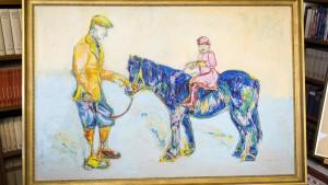 Der Königin hat das blaue Pferd gefallen