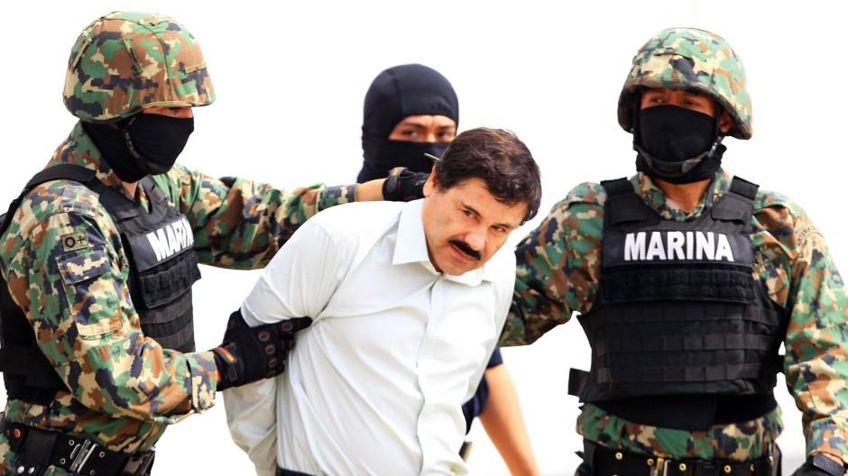 Geschnappt nach 13 Jahren auf der Flucht: Guzmán wird im Februar 2014 festgesetzt