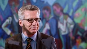 Thomas De Maizière warnt vor Minderheitsregierung