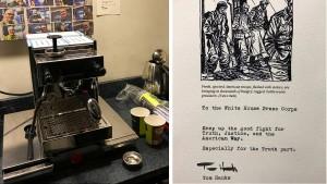 Tom Hanks spendiert Reportern Espressomaschine