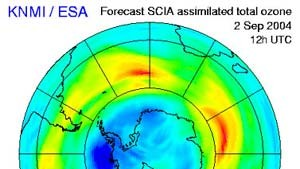 Ozonloch über der Antarktis deutlich kleiner