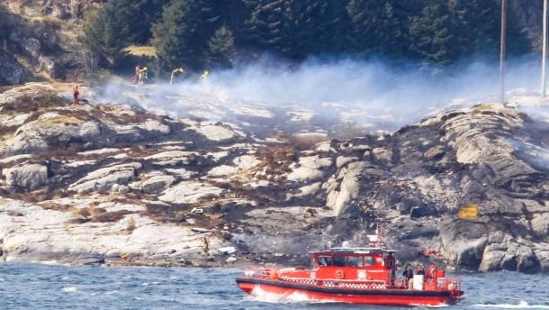 13 Tote bei Hubschrauber-Absturz in Norwegen