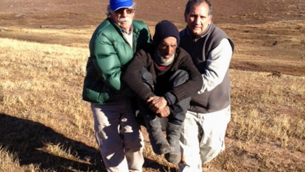 Handout photo of Uruguayan man Raul Fernando Gomez Circunegui after being found in San Juan Province