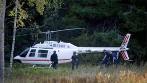 Polizei verhindert Abflug der Hubschrauber-Räuber