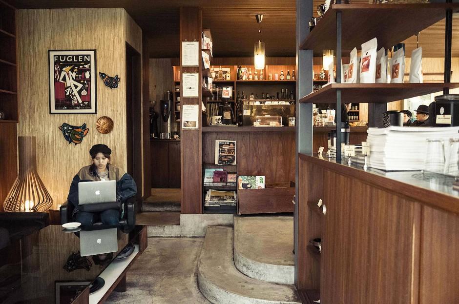 Nach skandinavischem Vorbild: Coffeeshop in Tokios Shibuya-Distrikt