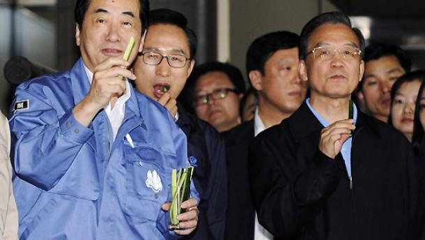 Staatsführer besuchen erstmals die Unglücksregion