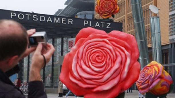 Rosen für den Potsdamer Platz