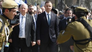 Israels Staatschef erneuert in Auschwitz Kritik an Polens Holocaust-Gesetz