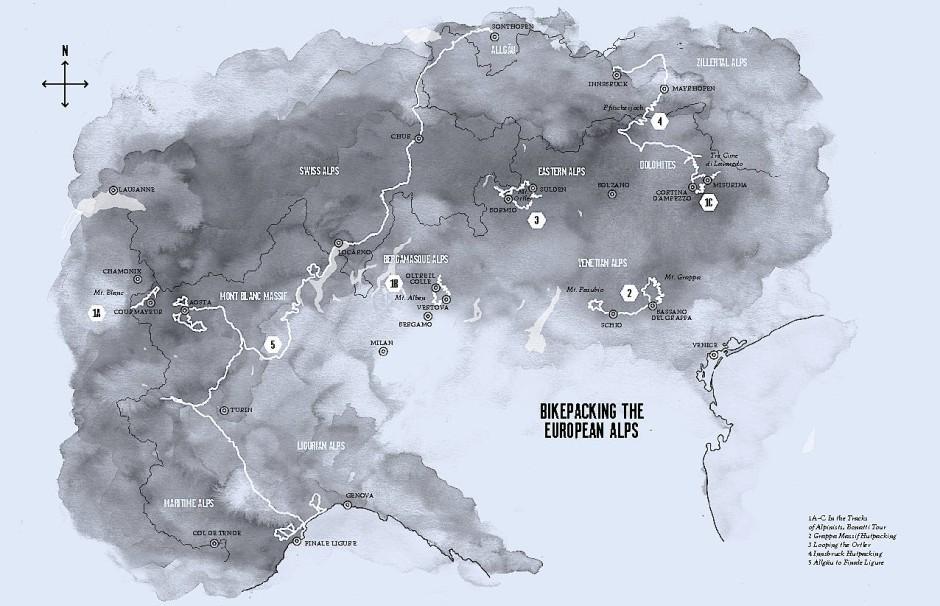 Inspiration für die nächste Radtour: Routen durch die Alpen