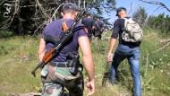 Auf Einsatz mit der albanischen Polizei