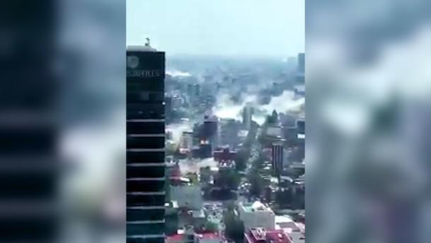 Mexiko-Stadt in Trümmern