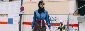 Kleid, Stiefeletten, Gürtel und Sonnenbrille von Louis Vuitton