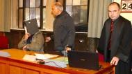 Der mutmaßliche Täter Mohammed H. am ersten Prozesstag im Landgericht Tübingen