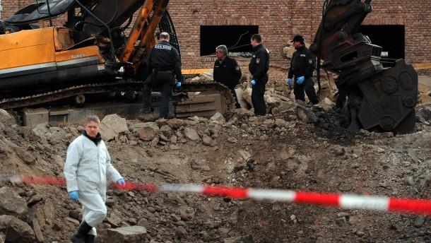 Blindgänger war womöglich in Beton versteckt