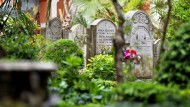 Zwei Gräber auf dem deutschen Pilgerfriedhof wurden geöffnet. (Archivbild)