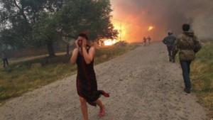 Feuer und Stürme wüten in Russland
