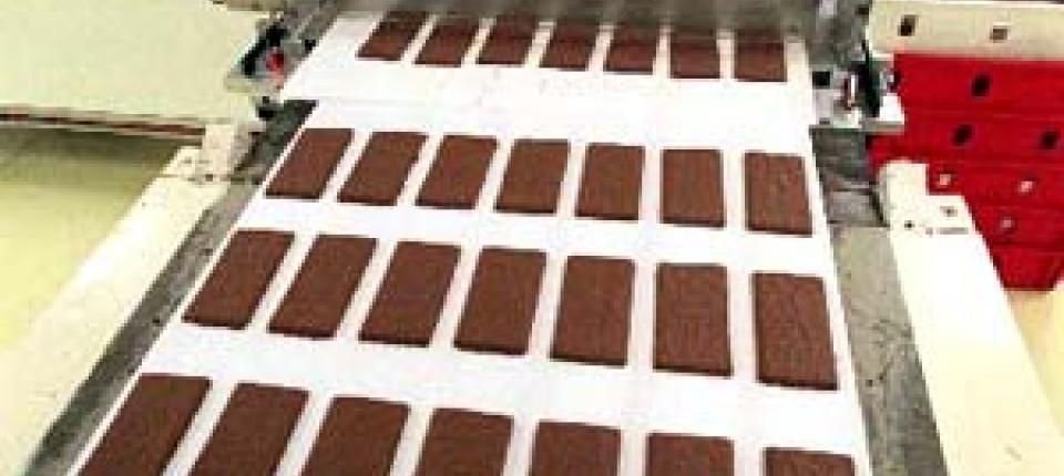 wird genau unter die lupe genommen schokolade