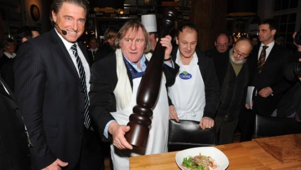 Gérard Depardieu wirbt für deutschen Käse