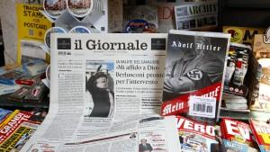 Mein Kampf liegt einer italienischen Zeitung bei