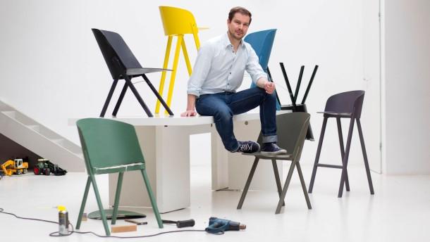 Ein Stuhl entsteht