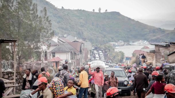 Teil-Evakuierung der Millionenstadt Goma