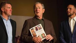 Selbstgemalte Porträts von George W. Bush sind ein Bestseller