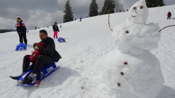 Thời tiết mùa đông trong lễ Phục sinh trên Feldberg