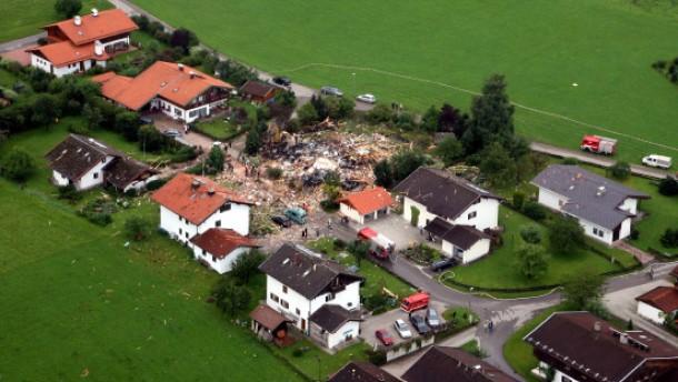 Haus-Explosion in Inzell war Absicht
